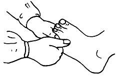 图17-20踝关节捻推示意图